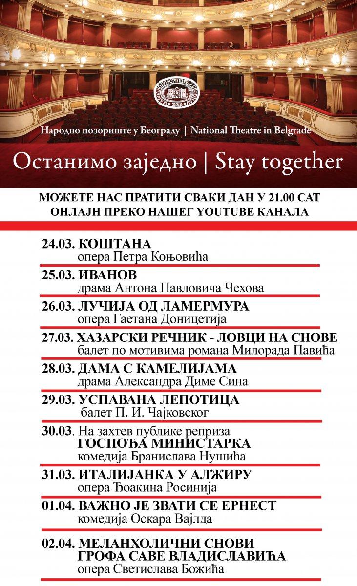 Narodno pozorište u Beogradu Online_repertoar