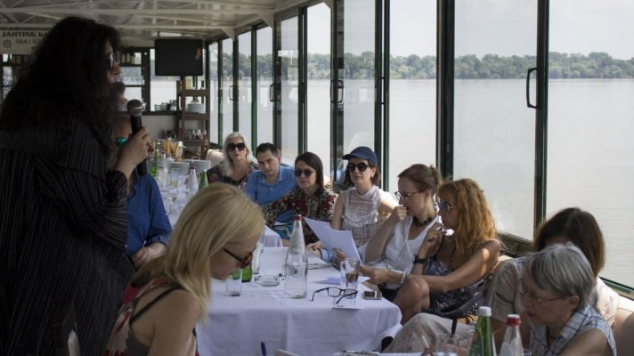 "Press Conference for Closure of the 150th Season of the National Theatre in Belgrade Takes Place Aboard the Boat ""Kej"""